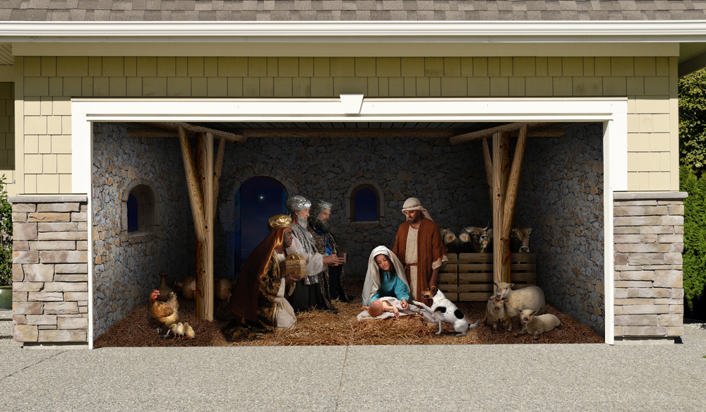 Christmas Nativity Scene 7' by 16'