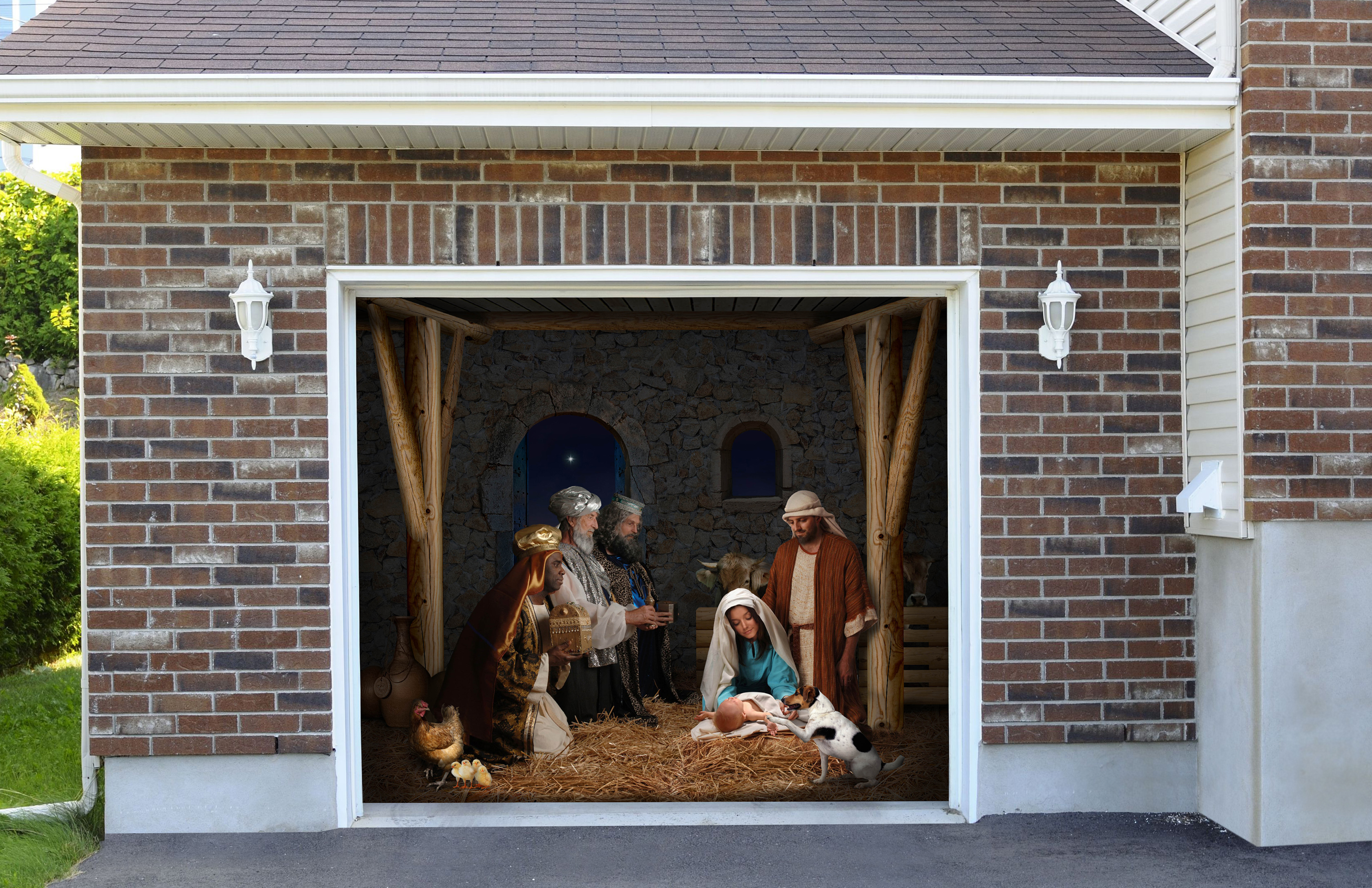 Christmas Nativity Scene 7' by 8'