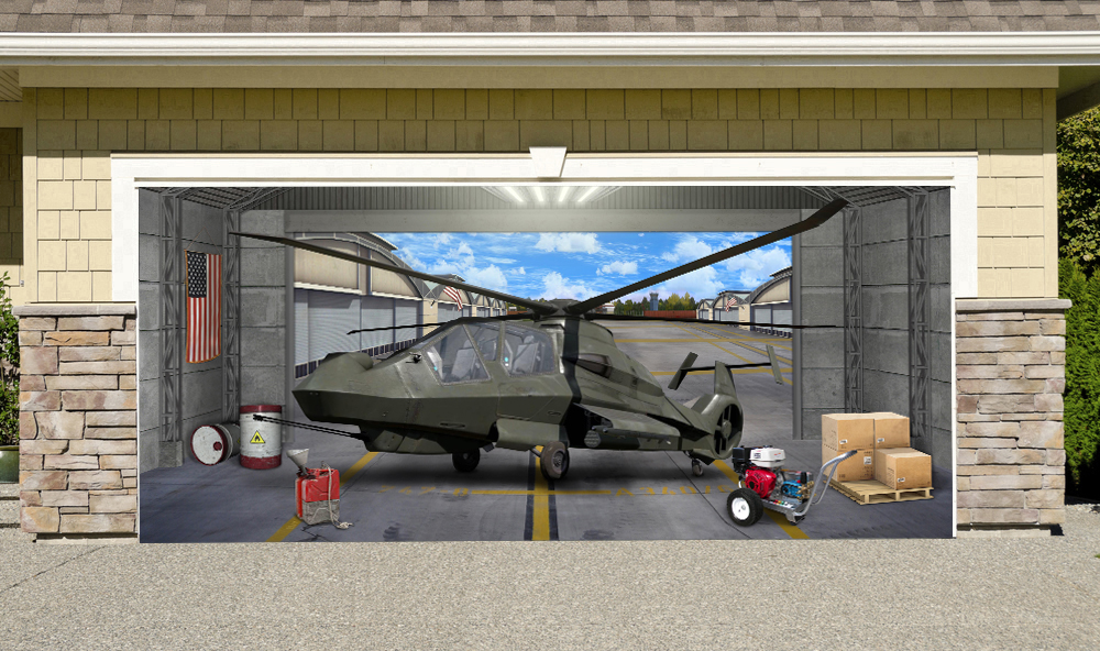 Comanche Helicopter Military Aircraft 7' x 16'