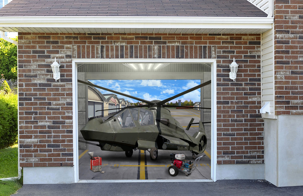 Comanche Helicopter Military Aircraft 7' x 8'