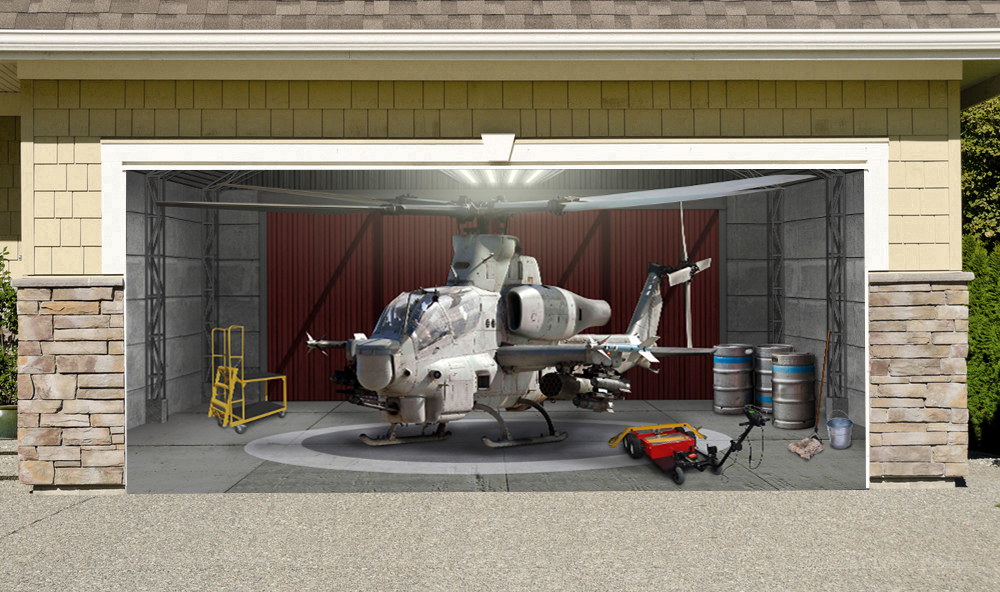 Cobra Helicopter Military Aircraft 7' x 16'