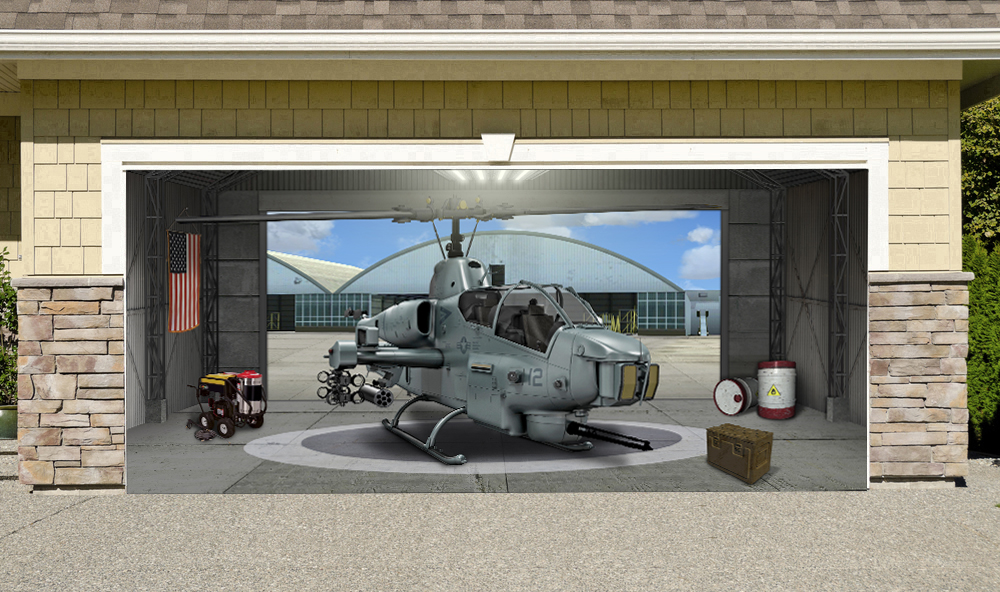 Super Cobra Helicopter Military Aircraft 7' x 16'