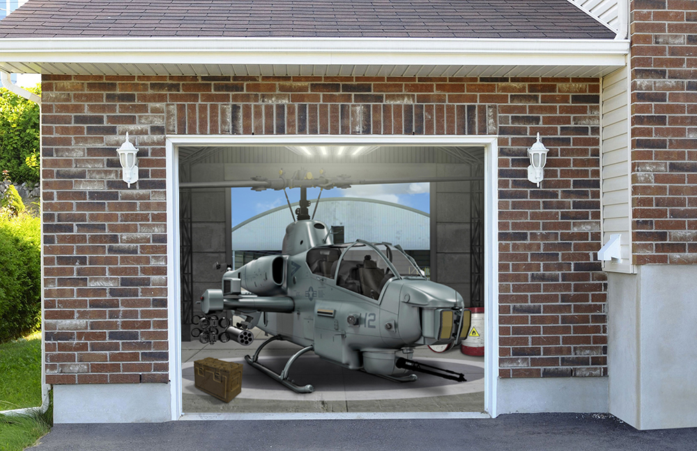 Super Cobra Helicopter Military Aircraft 7' x 8'