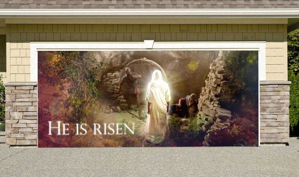 Easter He Is Risen 7' by 16'