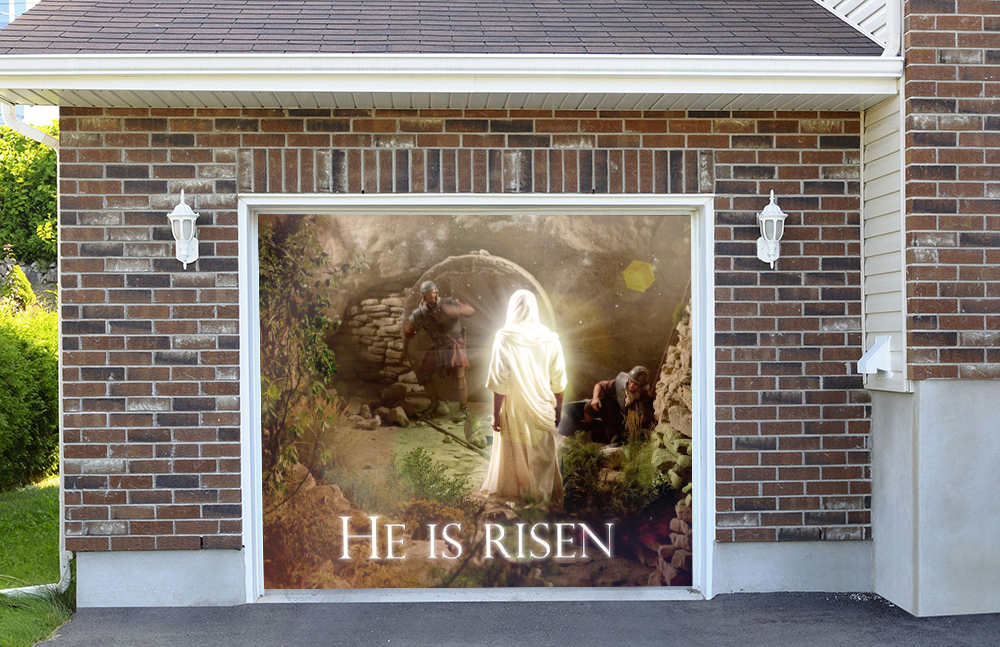 Easter He Is Risen 7' by 8'