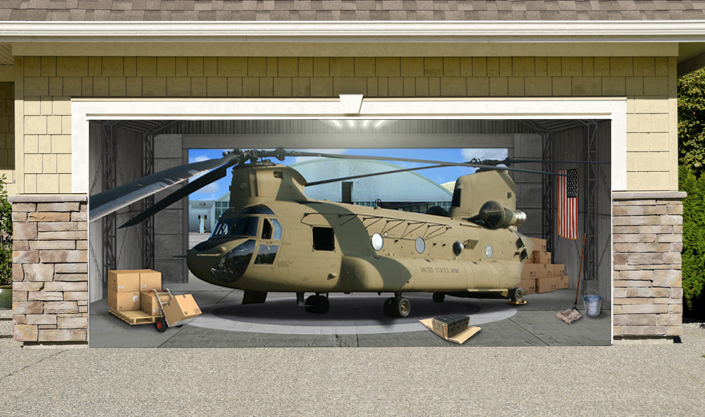 Chinook Helicopter Military Aircraft 7' x 16'